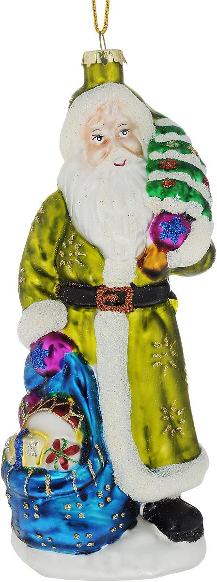 Украшение новогоднее подвесное Winter Wings Дед Мороз с елкой, высота 19 см украшение новогоднее подвесное mister christmas дед мороз коллекционное высота 10 см us 661211