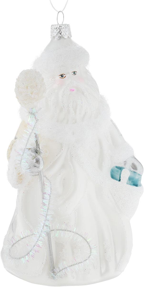 Украшение новогоднее подвесное Winter Wings Дед Мороз в белом, высота 16,5 см украшение новогоднее подвесное mister christmas дед мороз коллекционное высота 10 см us 661211