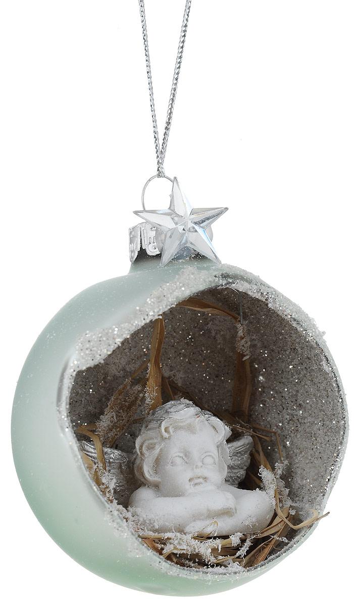 Украшение новогоднее подвесное Winter Wings Ангел, диаметр 7 см украшение новогоднее оконное winter wings новогодние герои 5 шт n09356 ангелы