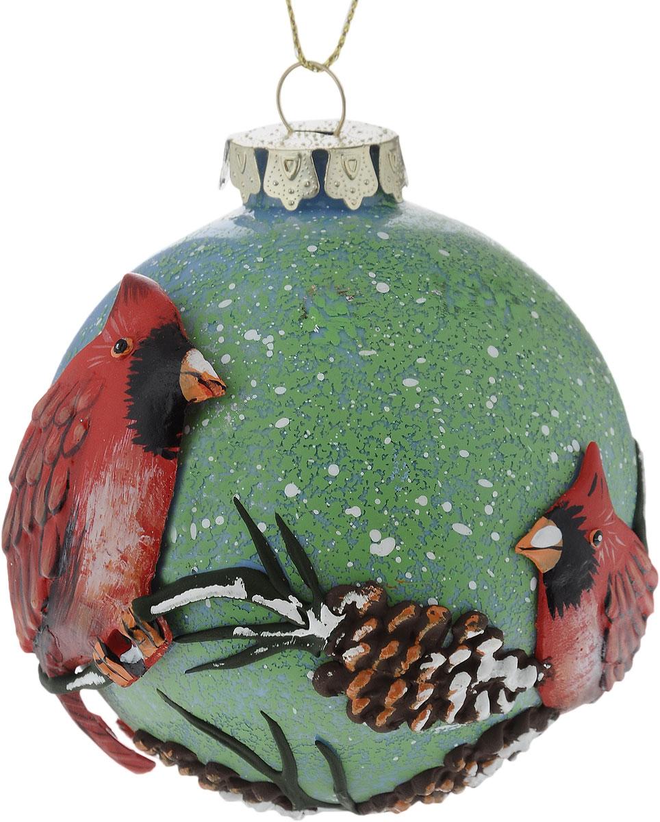 Украшение новогоднее подвесное Winter Wings Шар, диаметр 8 см. N07922 новогоднее подвесное украшение winter wings шар роспись цвет красный диаметр 8 см