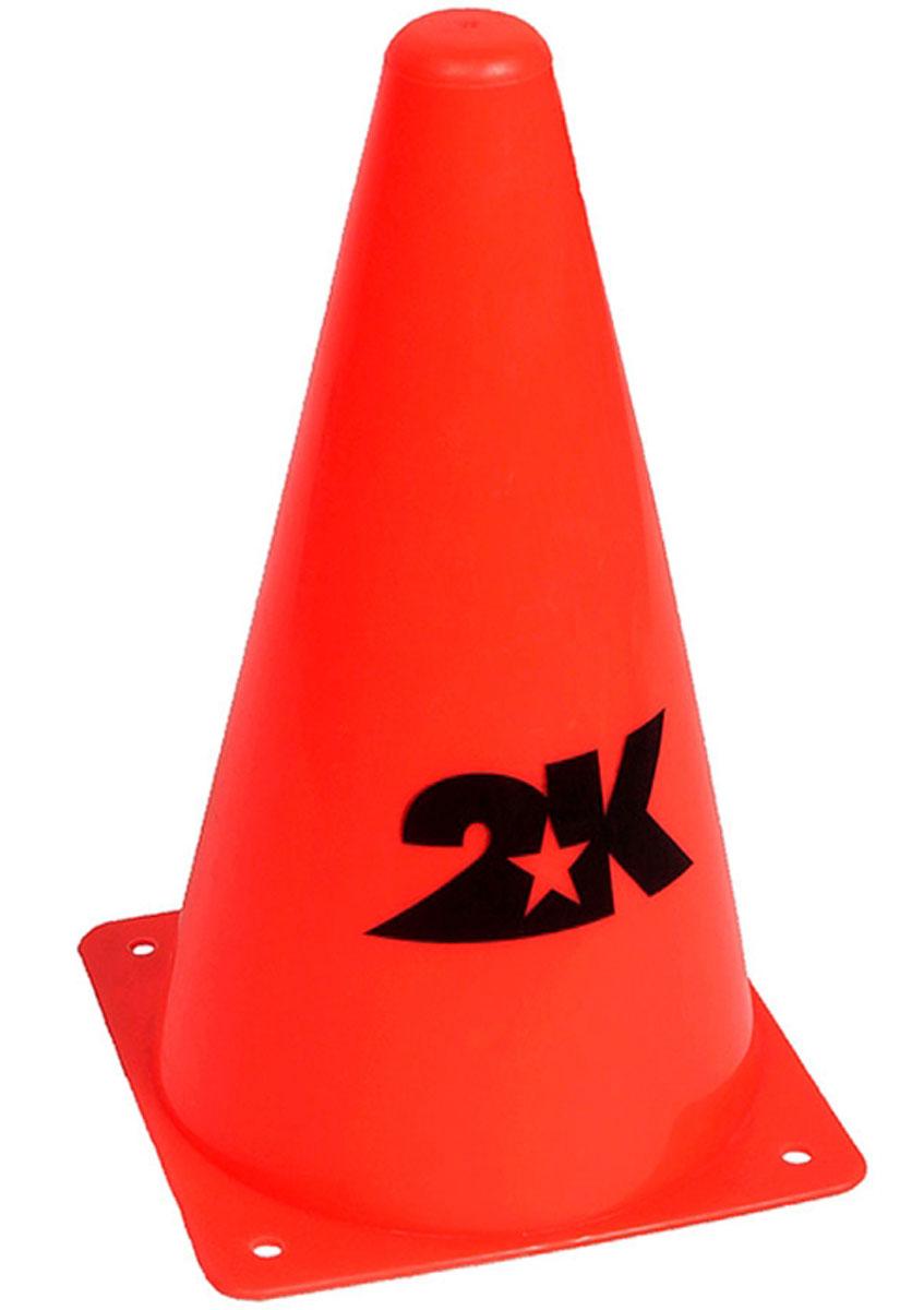 Конус разметочный 2K Sport, цвет: оранжевый, высота 23 см манишка footballstore 2k sport team 120708 700