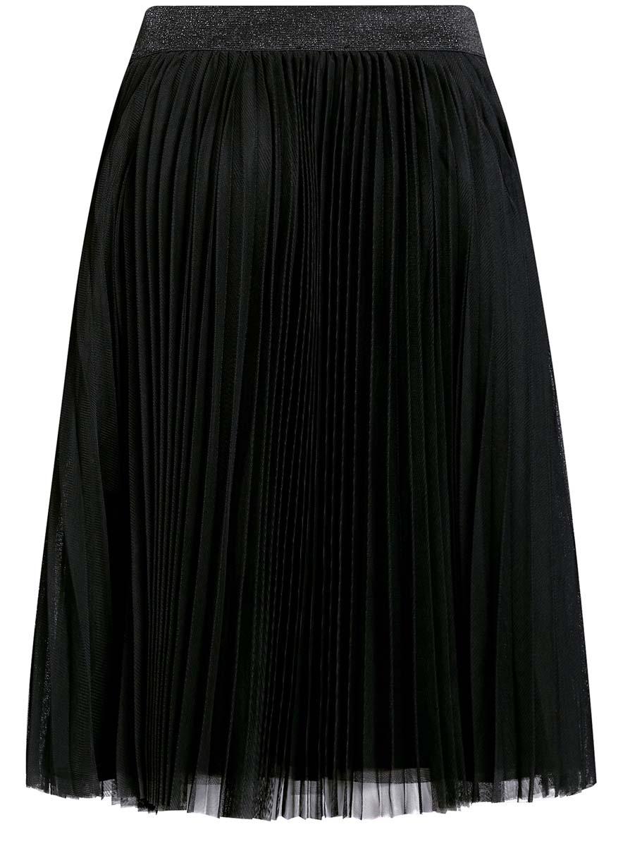 Юбка oodji Ultra, цвет: черный. 11600370/24205/2900N. Размер 36 (42-170)11600370/24205/2900NЮбка oodji Ultra выполнена из полиэстера. Юбка-плиссе средней длины дополнена эластичной резинкой на талии. Непрозрачный подъюбник также выполнен из полиэстера.