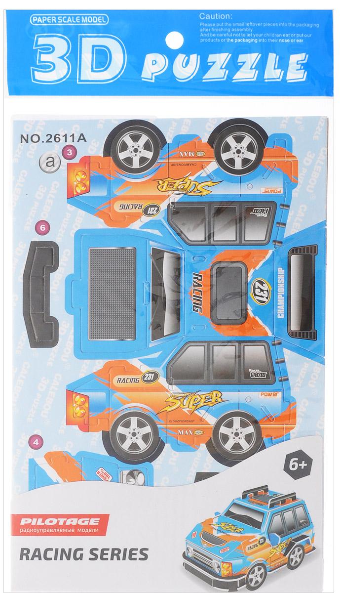 Pilotage 3D Пазл Машина цвет синий