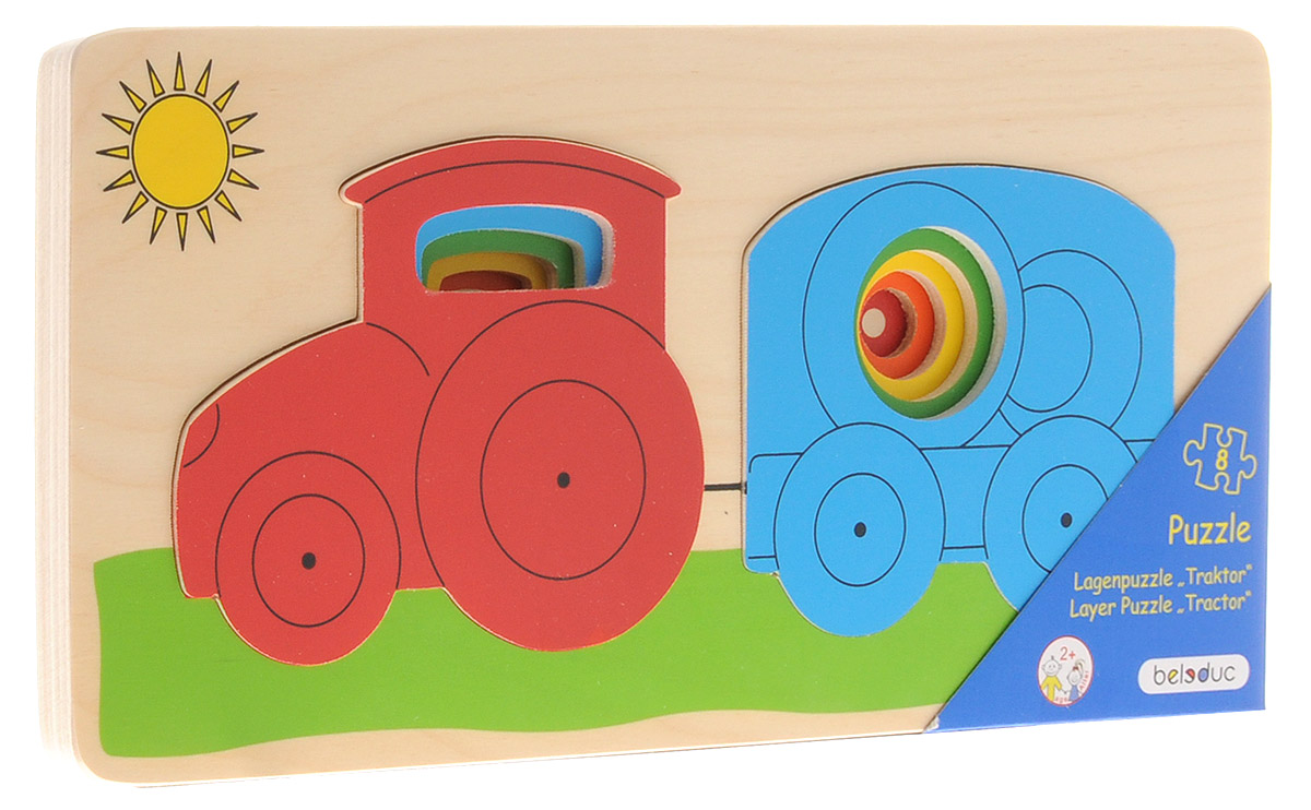 купить Beleduc Пазл для малышей Трактор по цене 2000 рублей