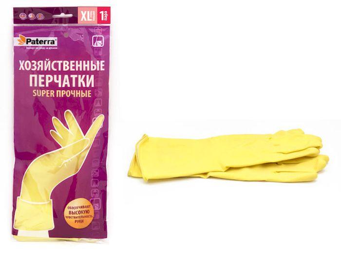 """Перчатки хозяйственные Paterra """"Super прочные"""". Размер 10 (XL)"""