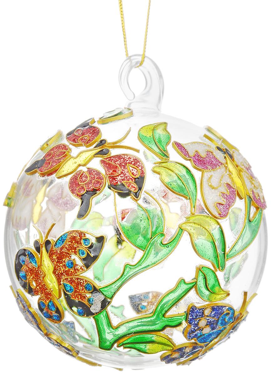 """Украшение новогоднее подвесное Winter Wings """"Бабочки"""", диаметр 10 см"""