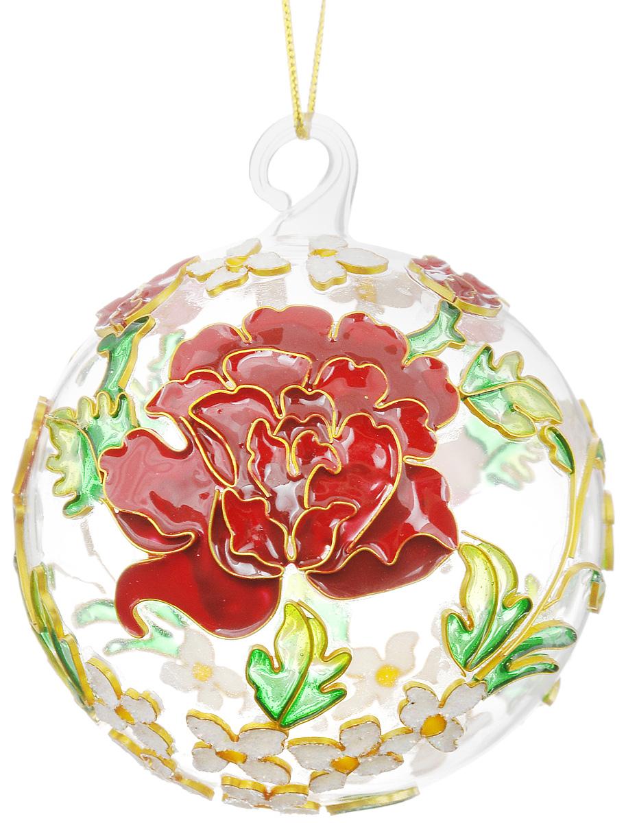 """Украшение новогоднее подвесное Winter Wings """"Цветы"""", диаметр 7,5 см"""