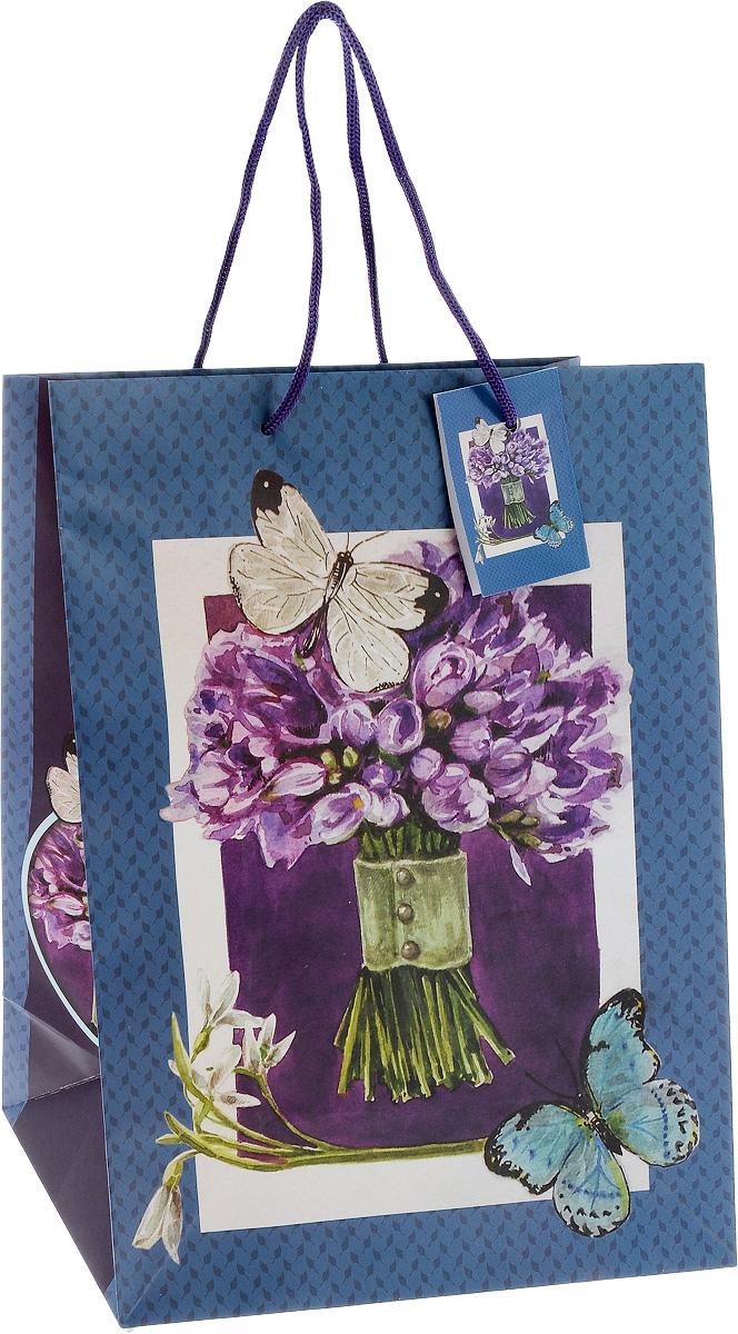 Пакет подарочный Феникс-Презент Сиреневый букет, 26 х 13 х 33 см пакет подарочный феникс презент каток 26 х 33 х 13 см