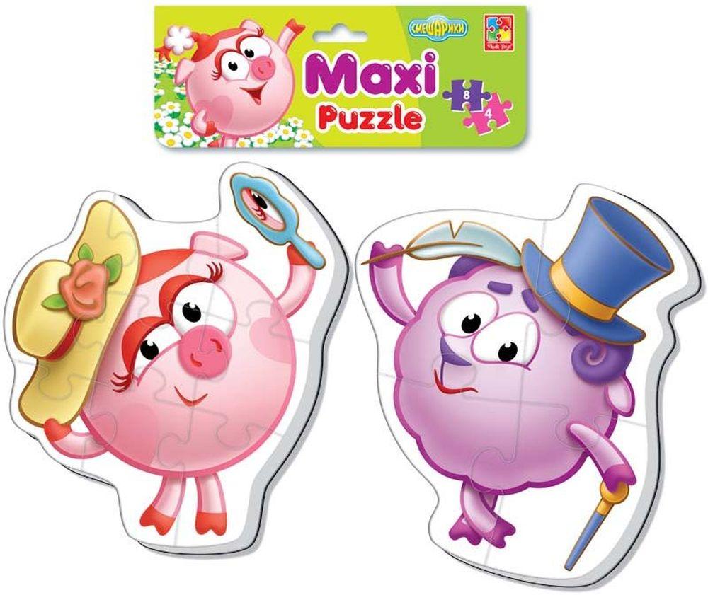 Vladi Toys Мягкие пазлы Maxi puzzle Смешарики Нюша и Бараш игровые фигурки vladi toys мой маленький мир смешарики нюша и бараш