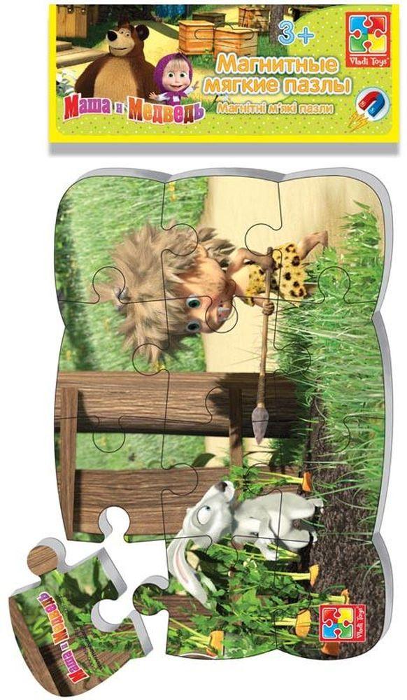 Vladi Toys Пазлы на магните Маша и Медведь Первобытная Маша vladi toys магнитные пазлы vladi toys маша и медведь первобытная маша