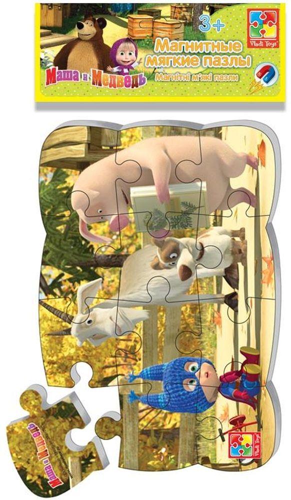 Vladi Toys Пазлы на магните Маша и Медведь Маша супер-герой vladi toys магнитные пазлы vladi toys маша и медведь первобытная маша