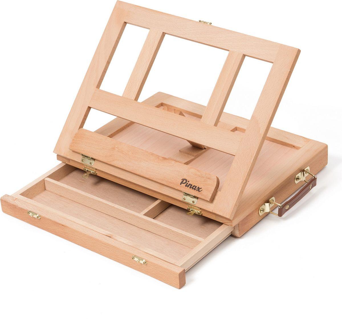Pinax Мольберт настольный с ящиком для кистей и красок ТЕ-01В