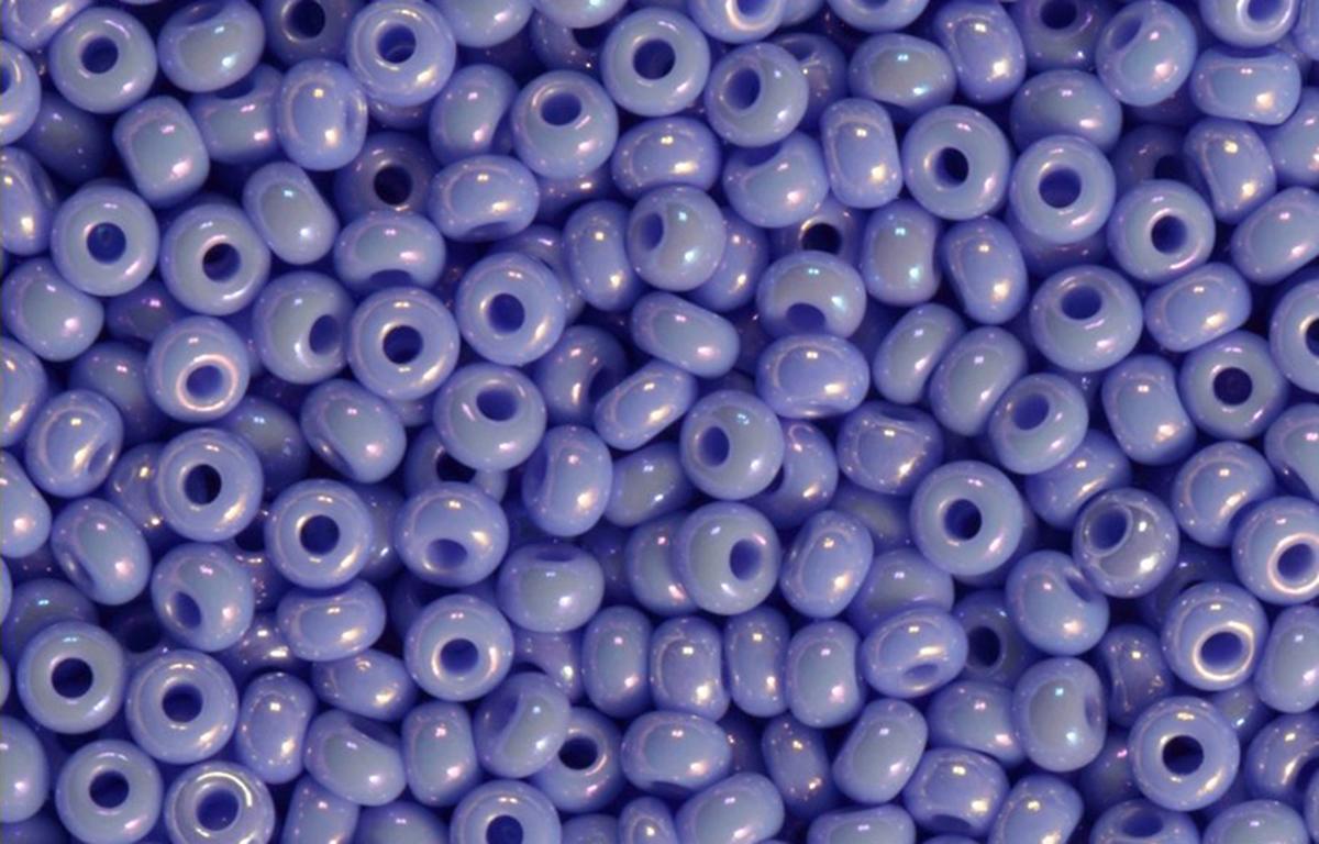 Бисер Preciosa, непрозрачный, перламутровый, цвет: фиалковый (34020С), 10/0, 20 г
