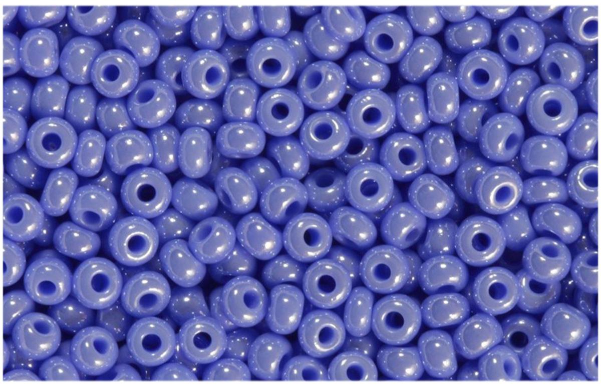 Бисер Preciosa, непрозрачный, глянцевый, цвет: сиреневый (38020), 10/0, 5 г бисер preciosa непрозрачный глянцевый цвет салатовый 53230 10 0 5 г
