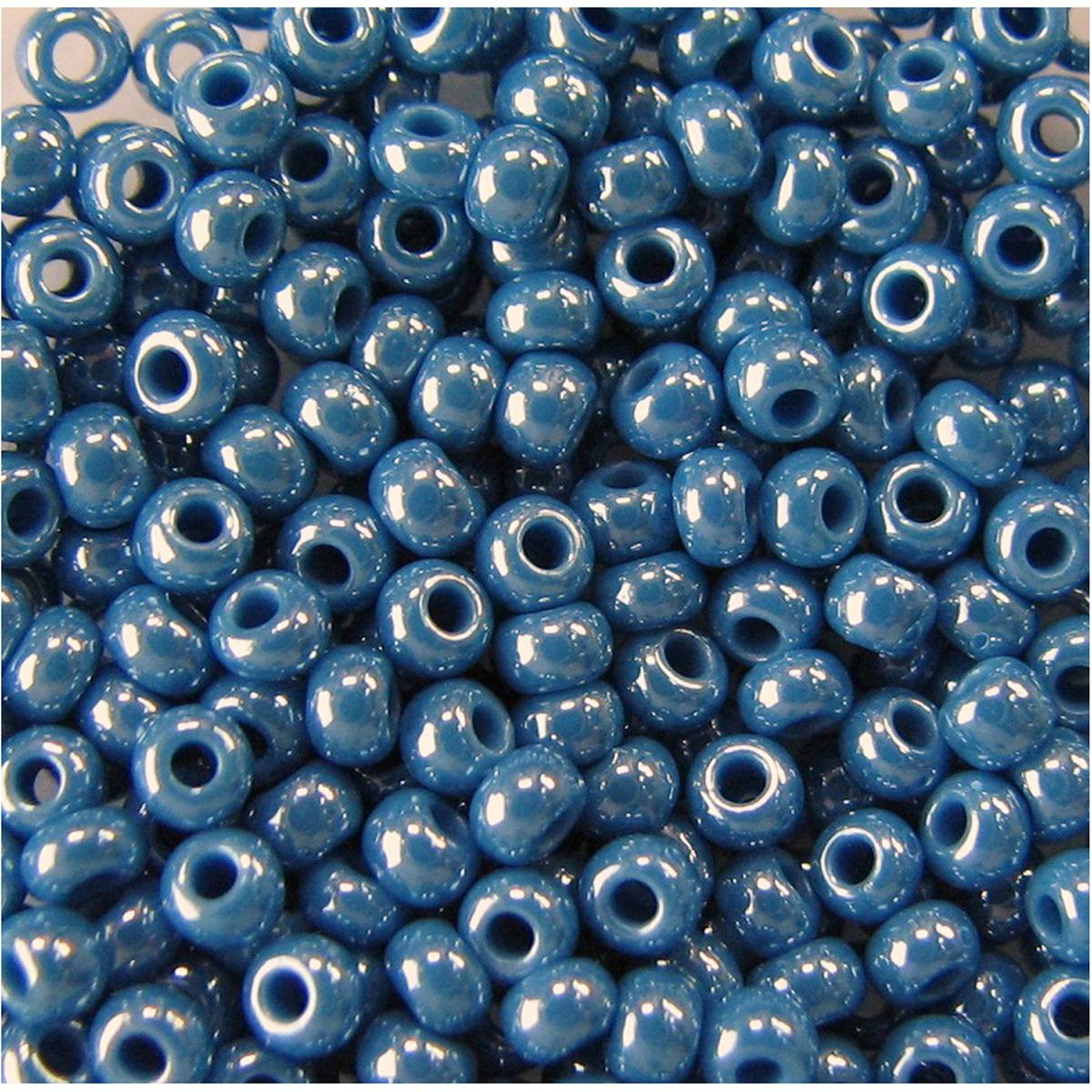 Бисер Preciosa, непрозрачный, глянцевый, цвет: морская волна (68080), 10/0, 5 г бисер preciosa непрозрачный глянцевый цвет салатовый 53230 10 0 5 г