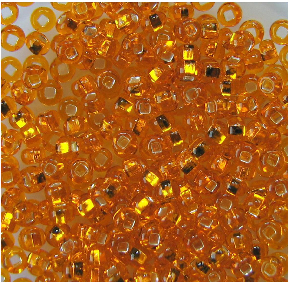 Бисер Preciosa, с серебристой серединой, цвет: темно-желтый (87060), 10/0, 5 г
