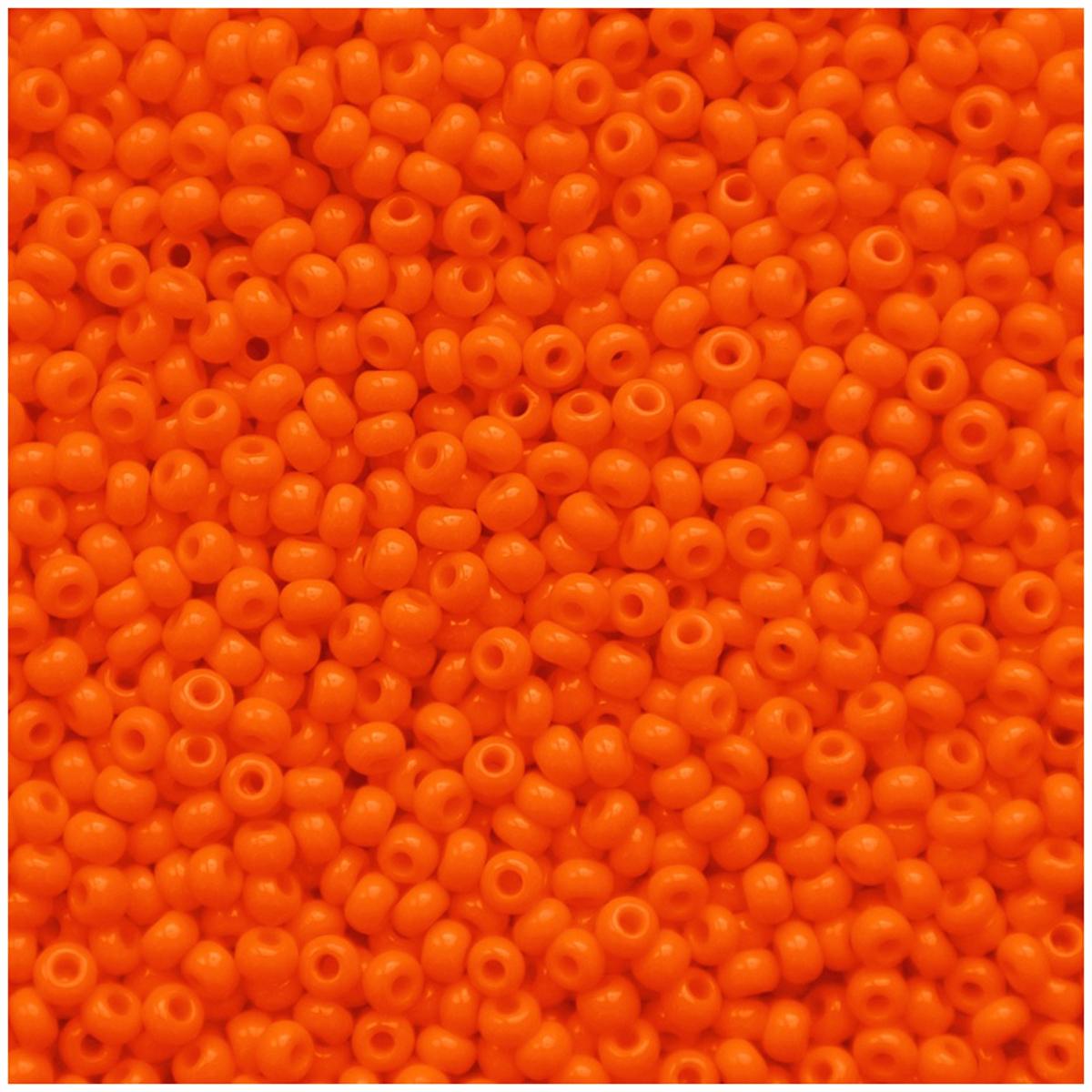 Бисер Preciosa, непрозрачный, глянцевый, цвет: оранжевый (93140), 5 г бисер preciosa ассорти непрозрачный глянцевый цвет светло лиловый 03195 10 0 20 г