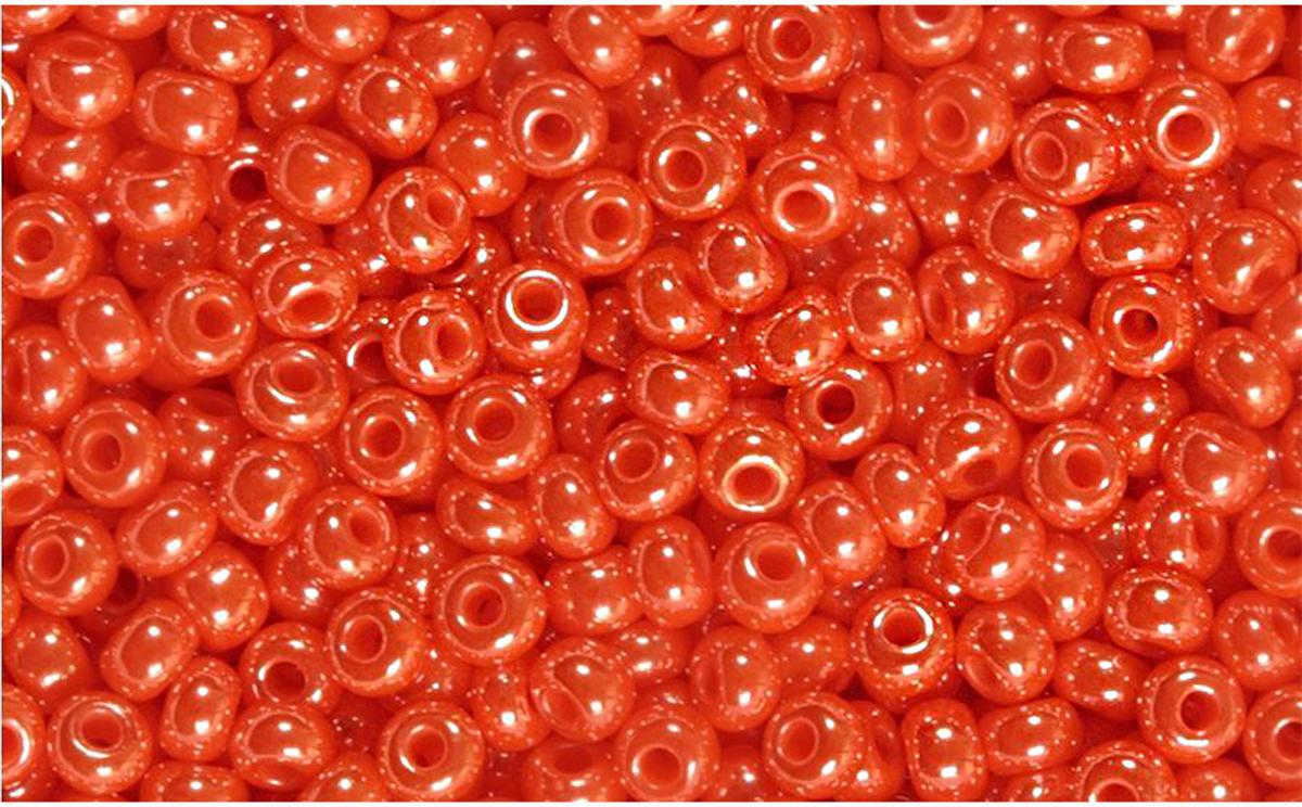 Бисер Preciosa, непрозрачный, глянцевый, цвет: коралловый (98140), 10/0, 5 г бисер preciosa непрозрачный глянцевый цвет салатовый 53230 10 0 5 г