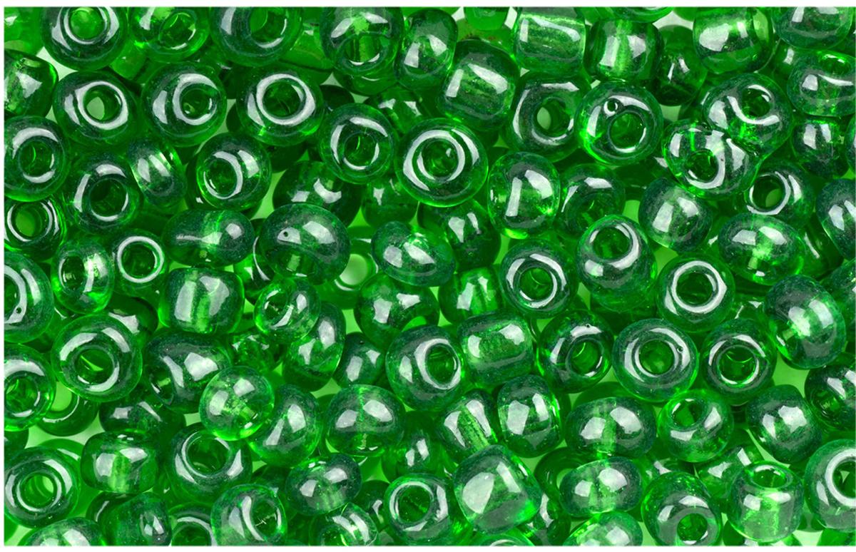 "Бисер ""Астра "", прозрачный, 6/0, 500 г, цвет: зеленый. 7701422_7B"