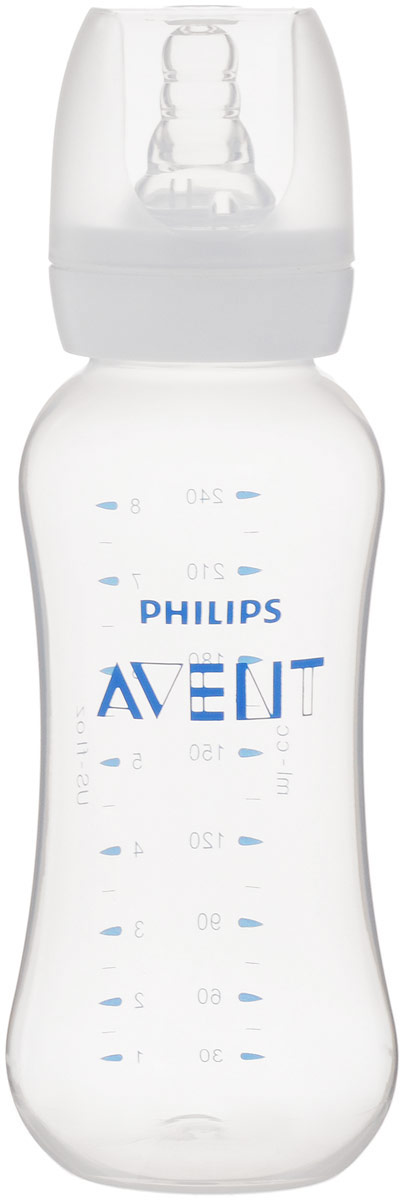 Philips Avent Бутылочка для кормления Standard от 3 месяцев 240 мл SCF971/17 avent бутылочка для кормления 125 мл