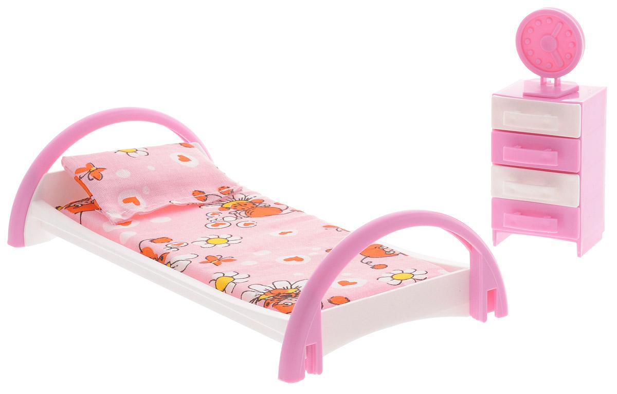 Форма Набор мебели для кукол Кровать с тумбочкой цена в Москве и Питере
