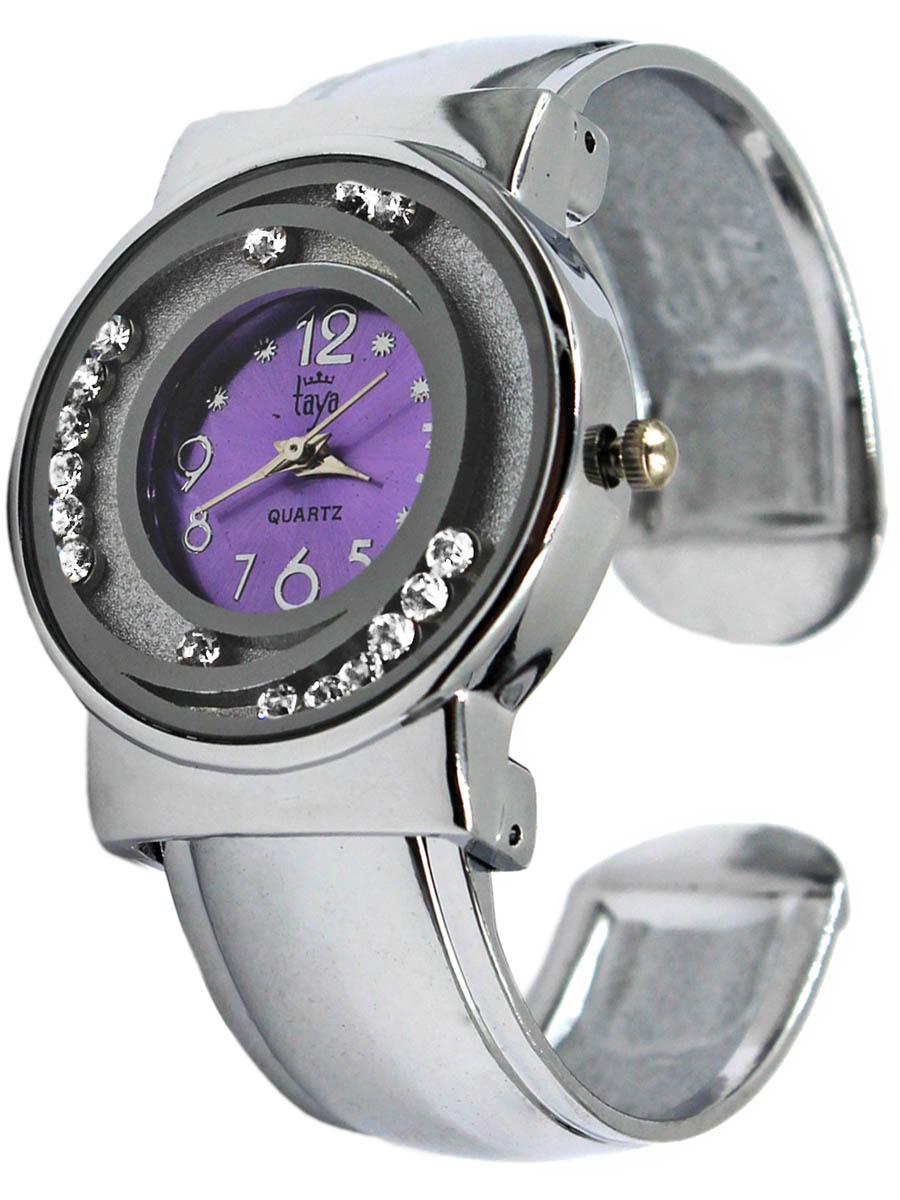 Часы наручные женские Taya, цвет: серебристый, лавандовый. T-W-0414 все цены
