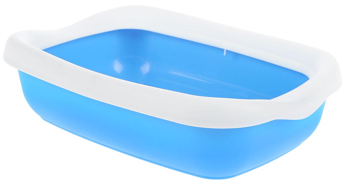 Фото - Туалет для кошек MPS Beta, с бортом, цвет: голубой, белый, 43 х 31 х 12,5 см smile mps 3400