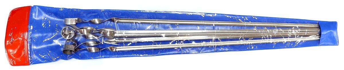 Набор шампуров Image, угловые, в чехле, длина 56 см, 6 шт набор угловых шампуров искра 50 см 6 шт