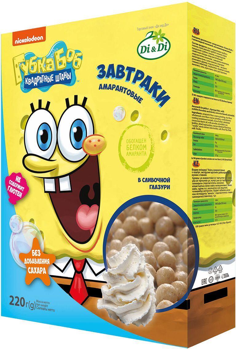цена Губка Боб завтраки амарантовые в сливочной глазури, витаминизированные, 220 г онлайн в 2017 году