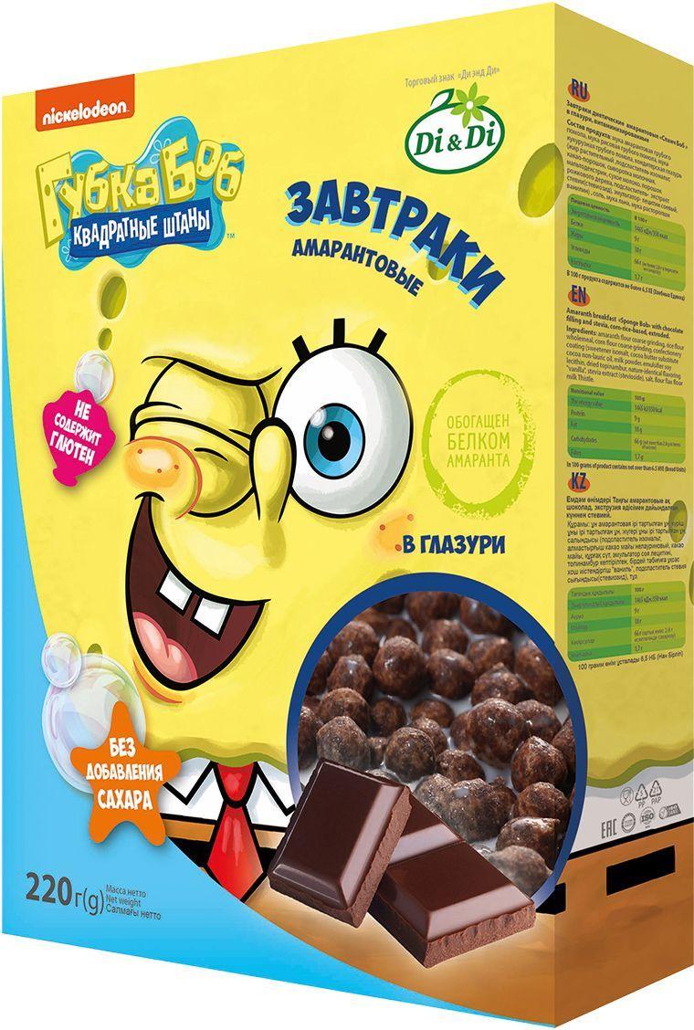 цена на Губка Боб завтраки амарантовые в глазури, витаминизированные, 220 г