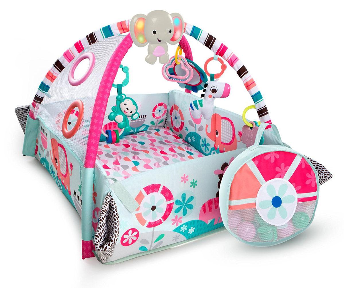 Bright Starts Развивающий коврик Мечты об Африке 5 в 1 цвет розовый цена