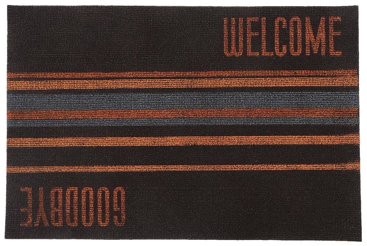 цена на Коврик придверный EFCO Нью Эден, цвет: коричневый, рыжий, 68 х 45 см