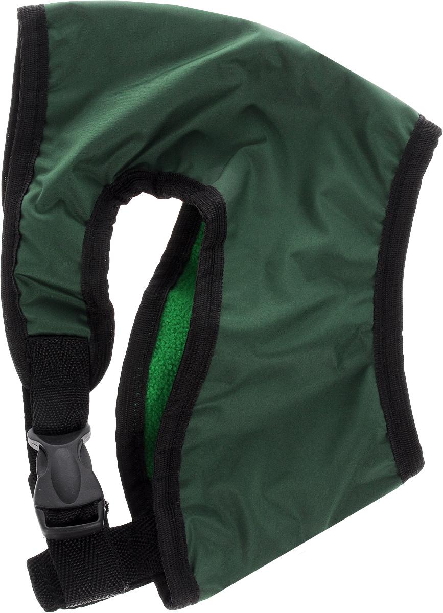 Шлейка для собак ЗооМарк, цвет: зеленый, черный. Размер 2 шлейка для собак зоомарк к9 1 обхват груди 51 67 см