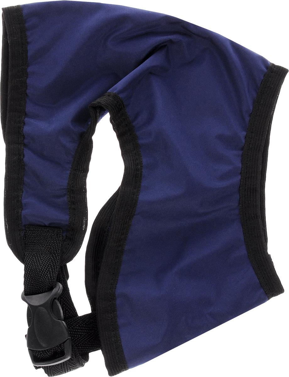 Шлейка для собак ЗооМарк, цвет: синий, черный. Размер 2 шлейка для собак зоомарк к9 1 обхват груди 51 67 см
