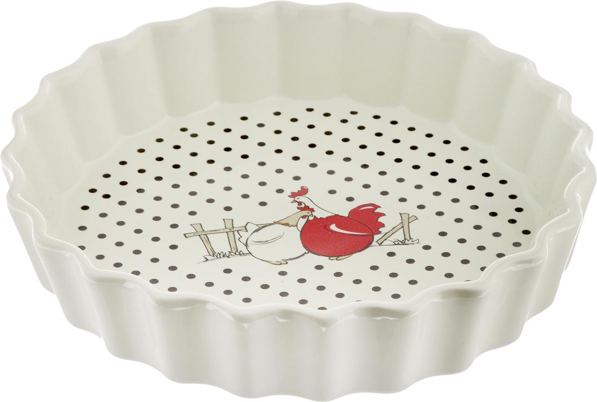Блюдо для запекания Olaff, круглое, диаметр 25 см блюдо для запекания rosenberg 37 5 23 см