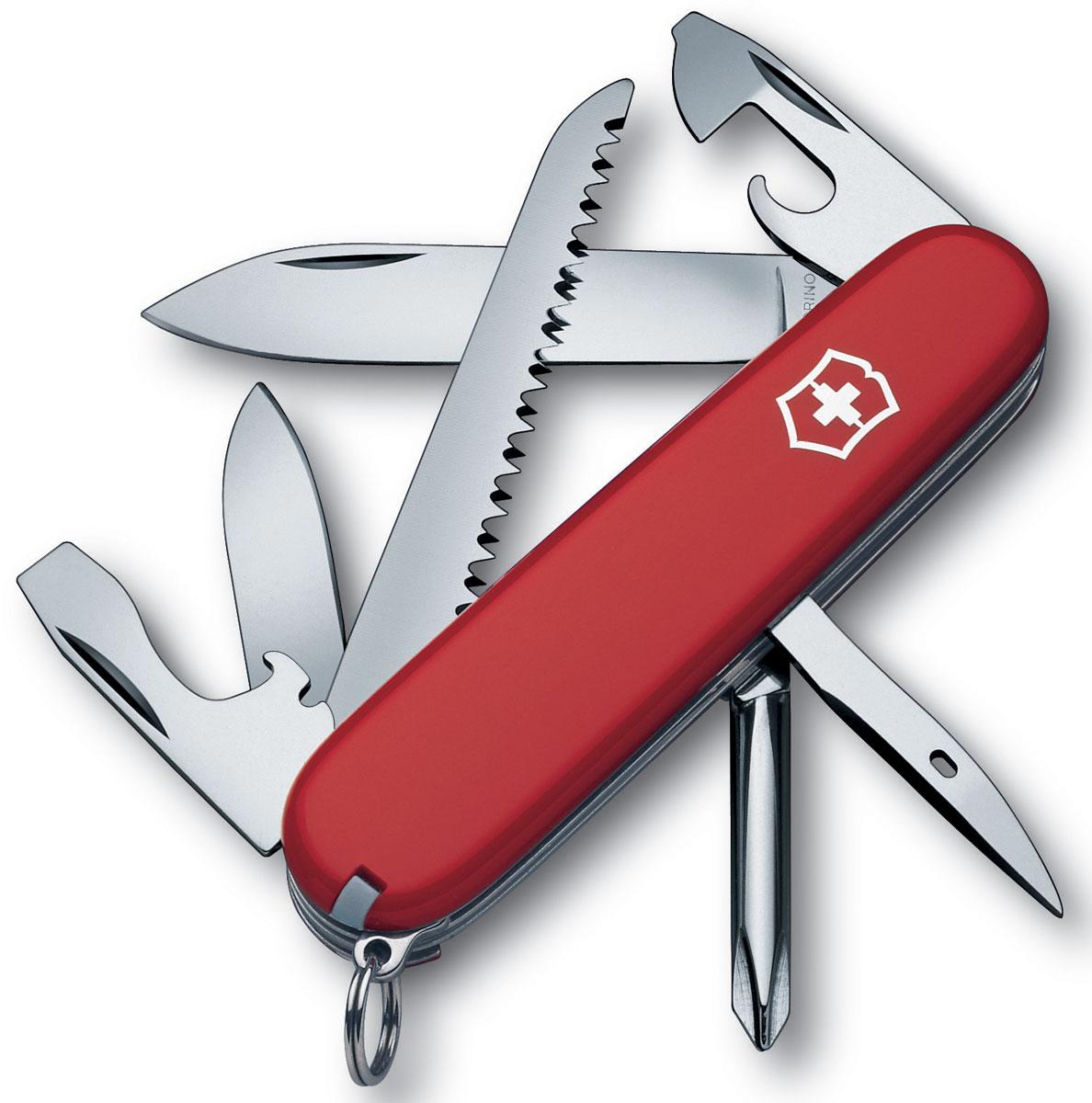 """Нож перочинный Victorinox """"Hiker"""", цвет: красный, 13 функций, 9,1 см"""