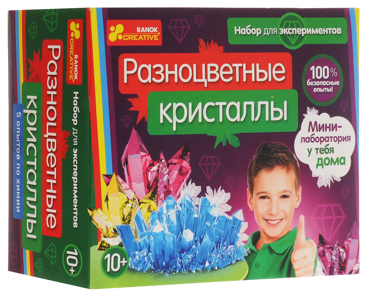 Ranok Набор для экспериментов Разноцветные кристаллы