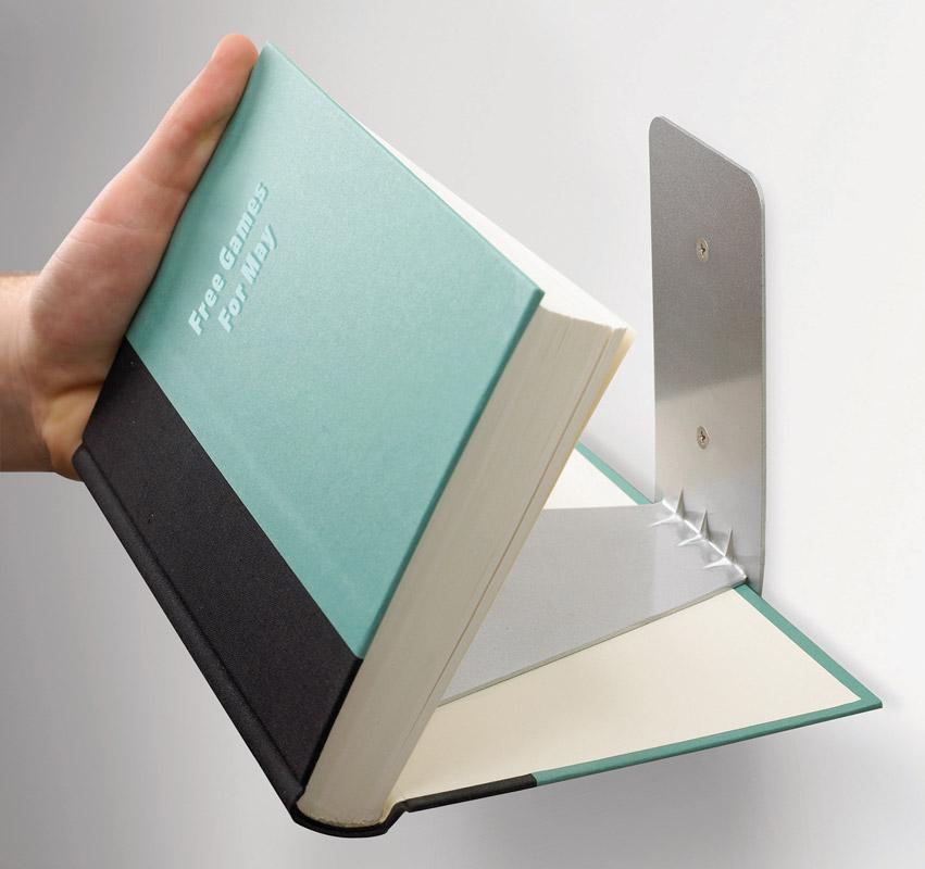 Полка книжная Umbra Conceal, цвет: металлик цена