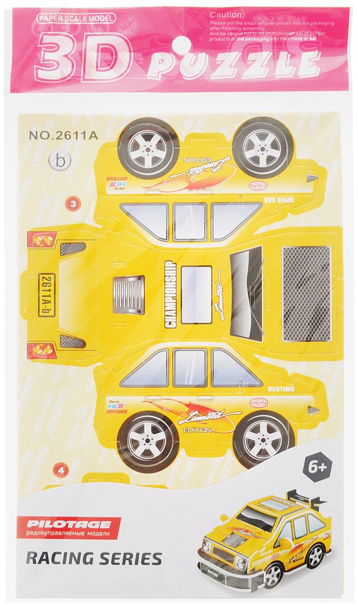 Pilotage 3D Пазл Racing Car Спортивная машина цвет желтый