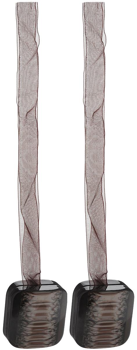 Подхват для штор TexRepublic Ajur. Lenta, на магнитах, цвет: темно-коричневый, 2 . 79016
