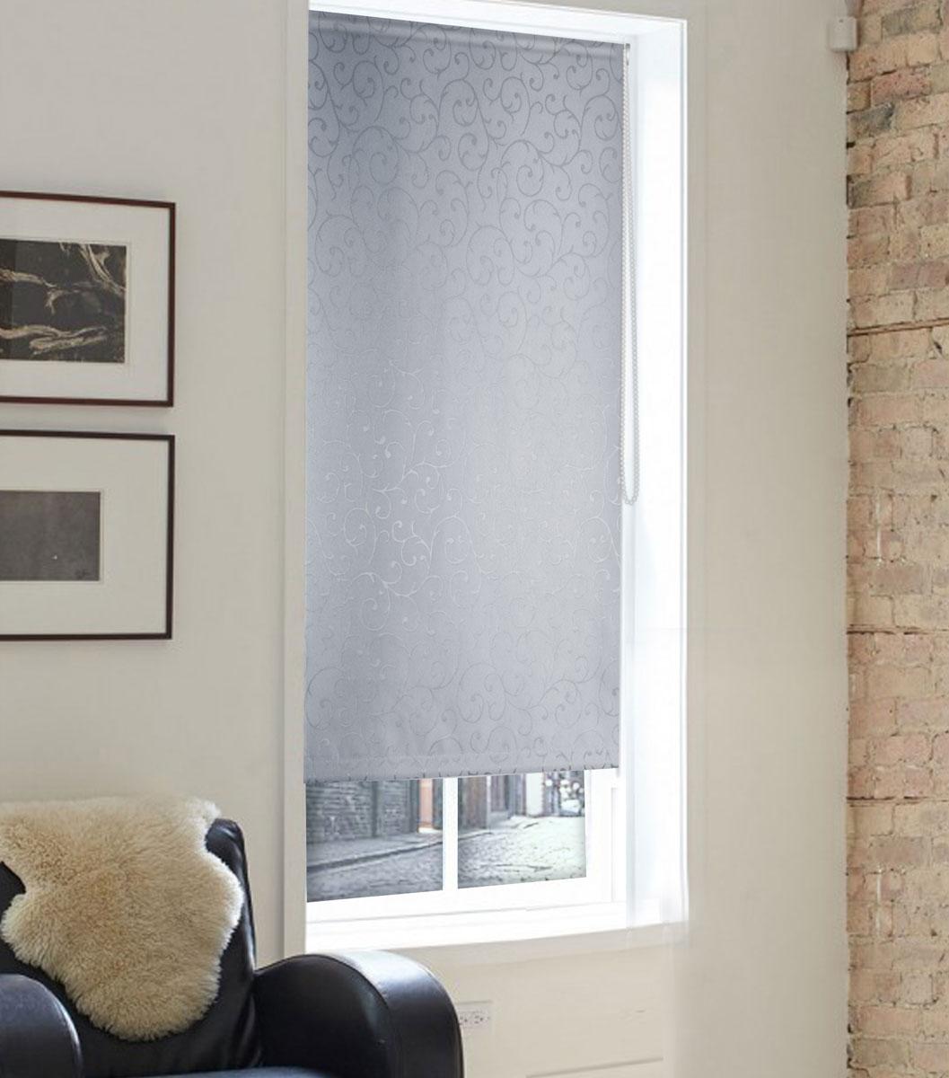 Штора рулонная Эскар Миниролло. Агат, фактурная, цвет: серый, ширина 98 см, высота 160 см штора рулонная эскар миниролло агат цвет серый ширина 73 см высота 160 см