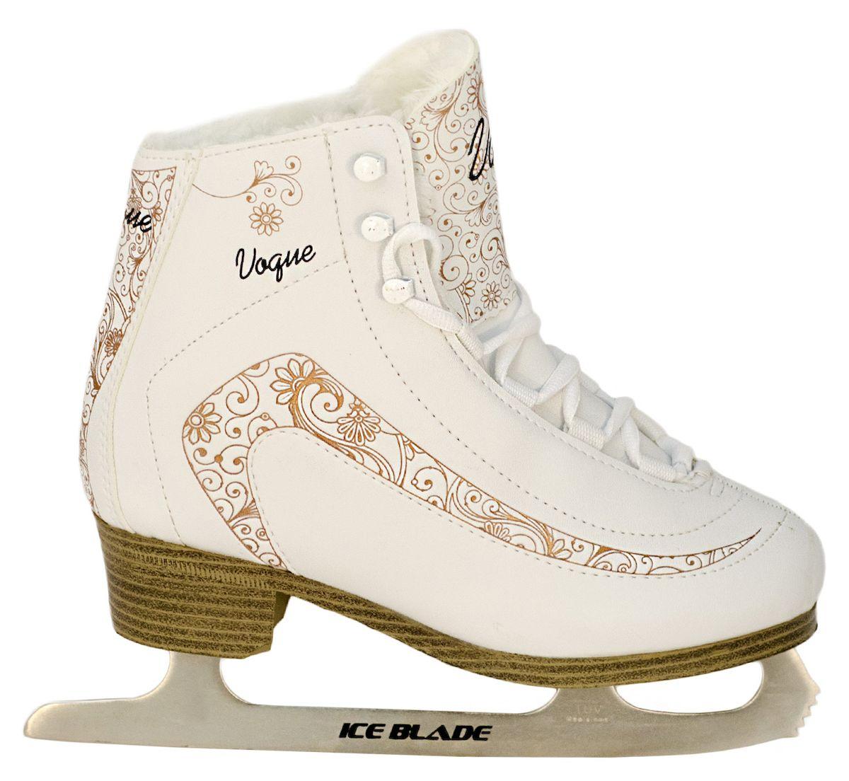 Коньки фигурные Ice Blade Vogue, цвет: белый, золотой. УТ-00006871. Размер 34
