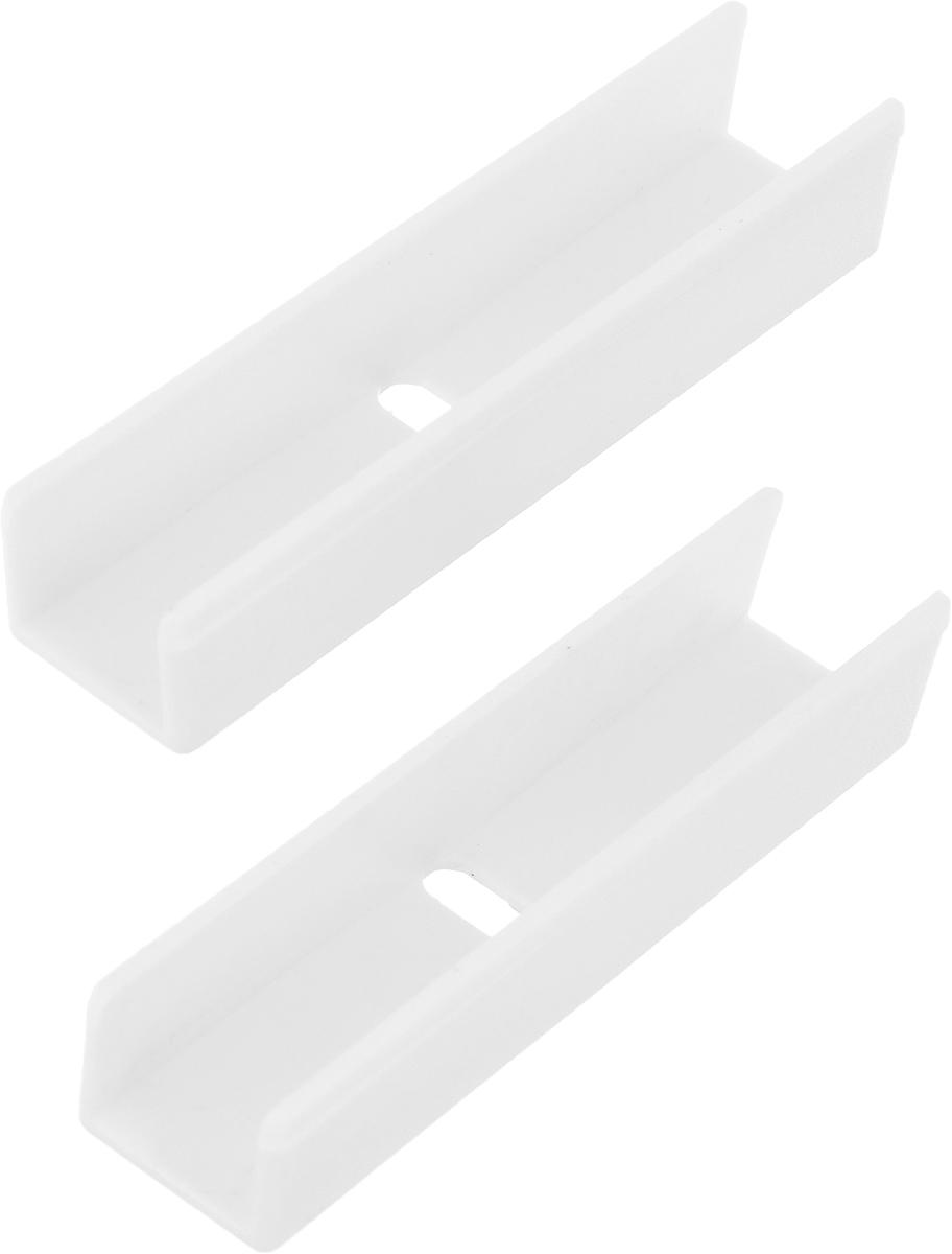 Соединитель для потолочной шины Эскар, 2 шт закругление для потолочной шины эскар наружное двухрядное 90 градусов