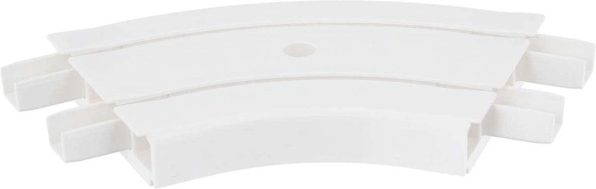 Закругление для потолочной шины Эскар, внутреннее, двухрядное, 135 градусов закругление для потолочной шины эскар наружное двухрядное 90 градусов