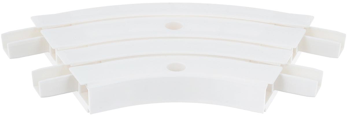 Закругление для потолочной шины Эскар, внутреннее, трехрядное, 135 градусов закругление для потолочной шины эскар наружное двухрядное 90 градусов