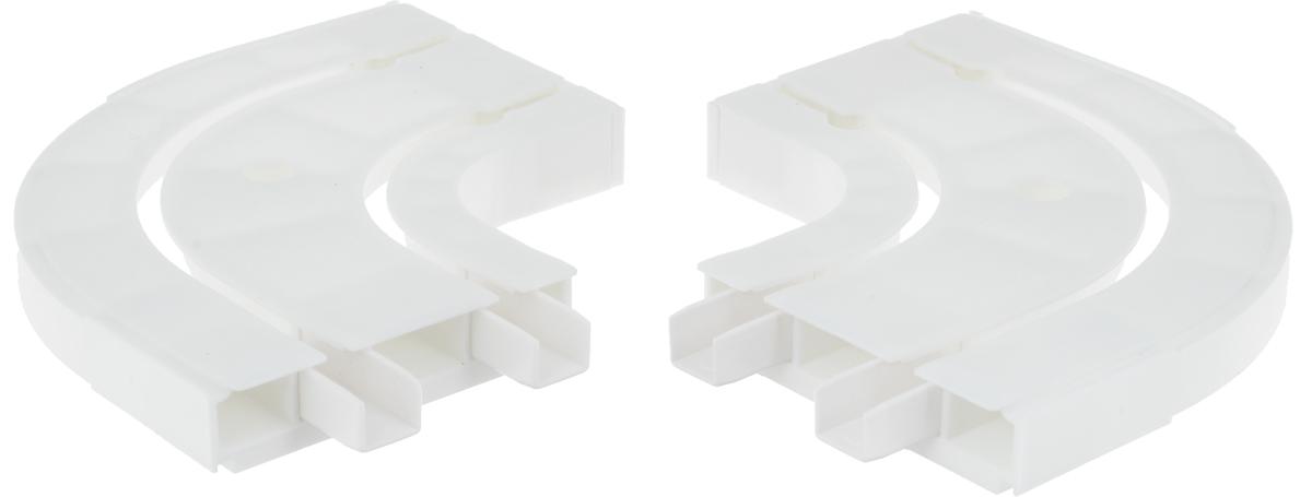 Оконцовка для потолочной шины Эскар, двухрядная, 2 шт закругление для потолочной шины эскар наружное двухрядное 90 градусов
