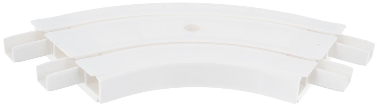 Закругление для потолочной шины Эскар, внутреннее, двухрядное, 120 градусов закругление для потолочной шины эскар наружное двухрядное 90 градусов