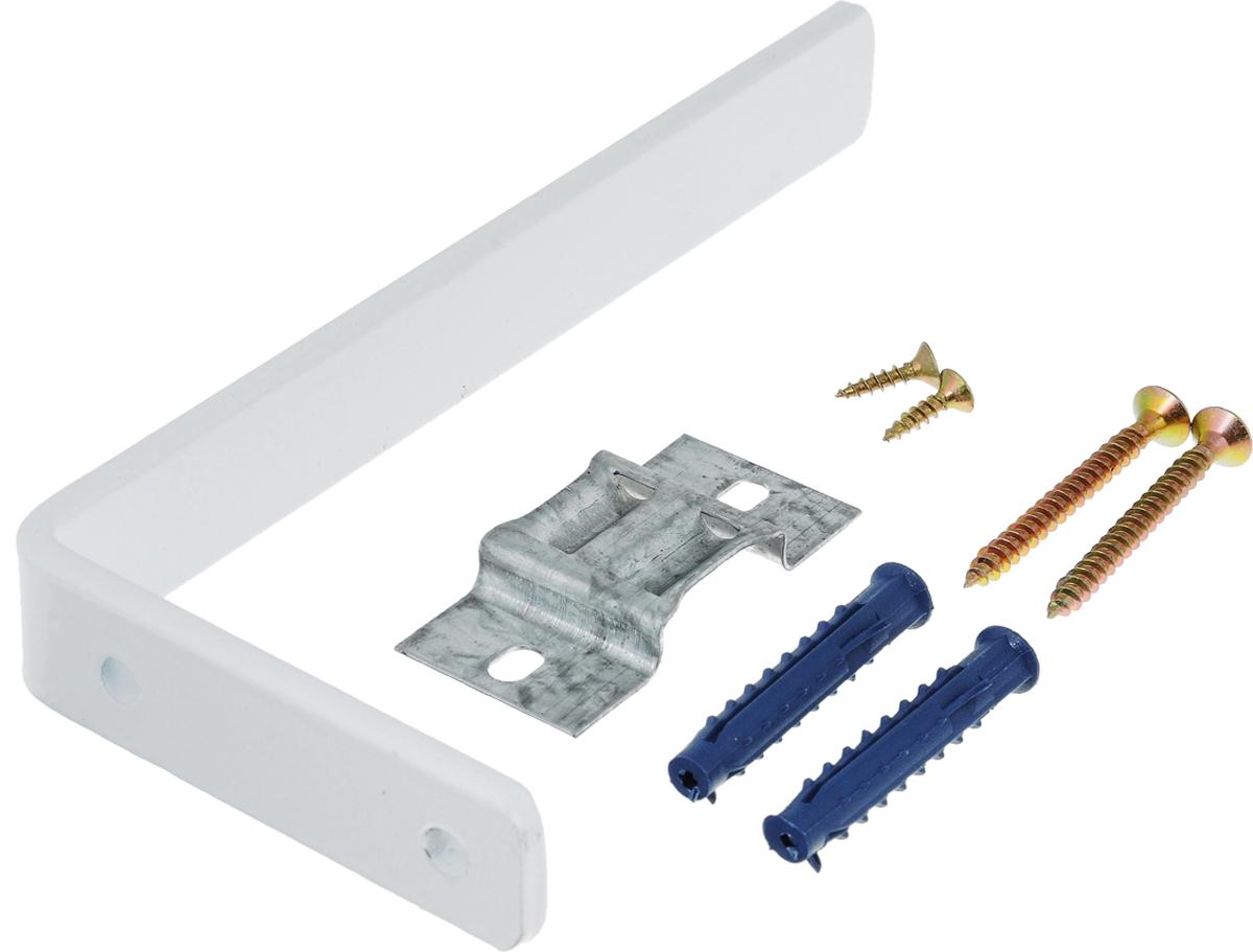 Держатель настенный Эскар, для потолочной шины, с креплением, длина 15 см закругление для потолочной шины эскар наружное двухрядное 90 градусов