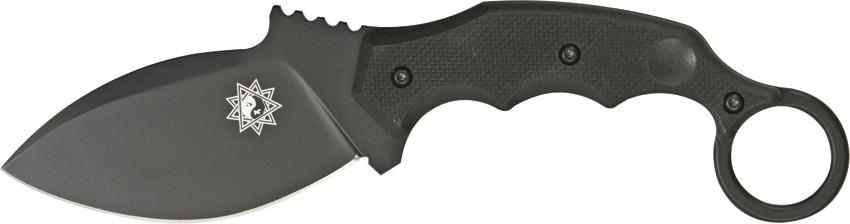 Нож Fox Parong Fighting Karambit, цвет: черный, длина клинка 9,5 см. OF/FX-637T