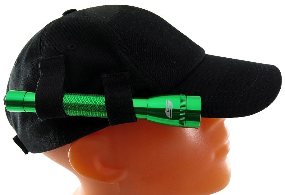 Фонарь SolarisF-5 NG, с бейсболкой, цвет: зеленый, черный бейсболки с номером